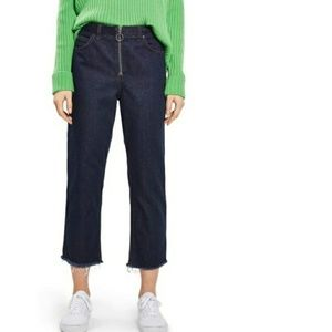 Topshop Boutique Ring Zip Jeans